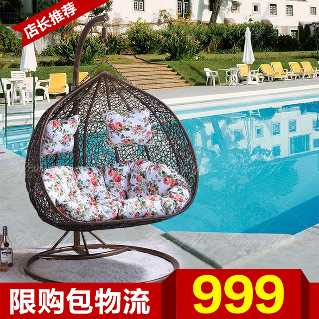 Double basket couples swing rocking chair balcony patio lounge chair nest hanging rattan furniture Specials & Double basket couples swing rocking chair balcony patio lounge chair ...