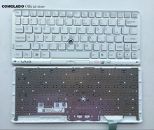 US English Keyboard For SONY VPC P11 Series P119 P119JC P118 P115 With white Frame Laptop Keyboard US Layout laptop keyboard with back light for clevo p370sm p170sm black us series 6 80 p17s0 010 3 v132150bk3