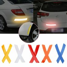 2Pcs Car-styling Reflective Sticker Wheel Rim Protective Auto Decoration Safety Mark Accessories