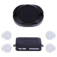 Venda quente 4 do carro sensor de Estacionamento Auto Reverso Do Carro de Estacionamento Traseiro Assistência Parque De Backup Radar Sistema De Monitoramento De Alarme Buzzer Parktronic