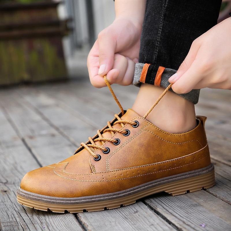 Mpx8116162 Marca De Sapatos Homens Primavera Casuais cinza Confortáveis Couro Alta marrom Preto Qualidade pR5z5