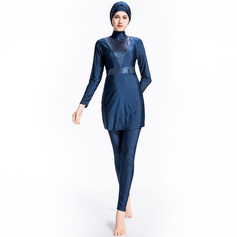 d454444011 Muslimah Hijab Achat Bain Femmes Musulman Maillots Plus Modeste De 76byfg