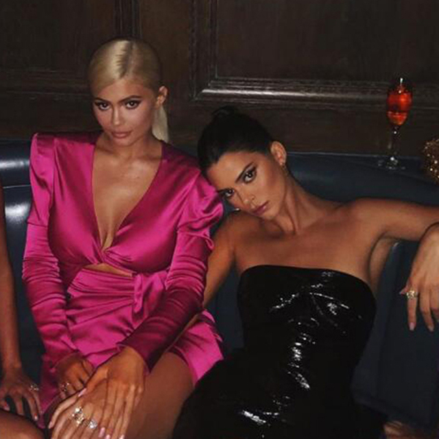 Kim Kardashian Autumn Bodycon Solid Elegant V Neck Dresses 3