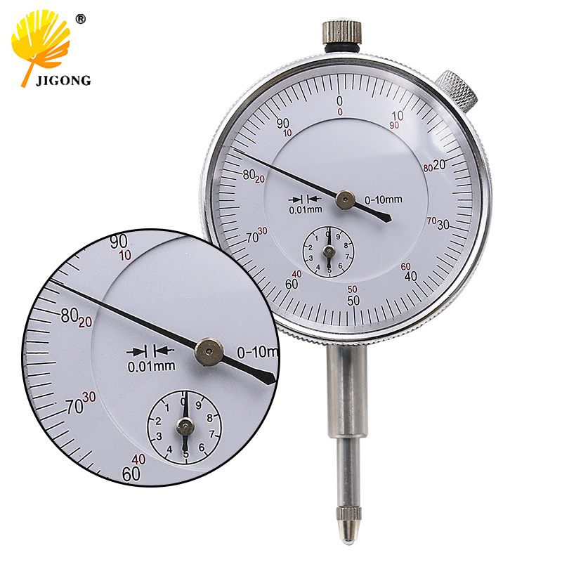 Dial Indicator Gauge 0-10mm Meter Precise 0.01 Resolution Concentricity Test