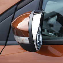цена на For Ford Kuga Escape 2013 2014 2015 2016 Car Rearview Mirror Rain Eyebrow Cover Stickers Decoration Accessories Car-styling