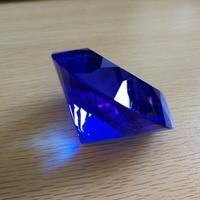 80mm dark blue Multi section Diamond Crystal Diamond Jellyfish Paperweight Happy Wedding Wicca Souvenir Novelty Households