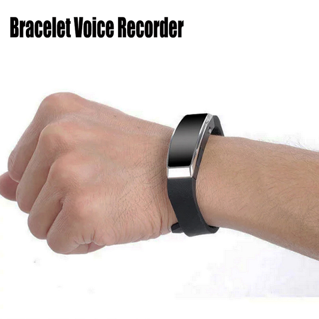 Wristband Bracelet Voice Activated Recording 8gb Digital Recorder Sound Audio Mp3 Player Usb Mini