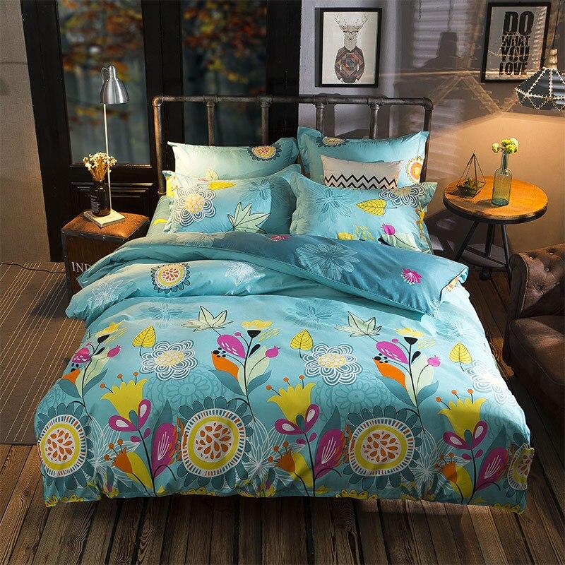 Aloe Cotton Colorful Flower Print Floral Bedding Set Nordic Pastoral Style Duvet Cover Bed Sheet  Pillow Case SetAloe Cotton Colorful Flower Print Floral Bedding Set Nordic Pastoral Style Duvet Cover Bed Sheet  Pillow Case Set
