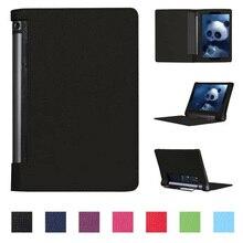 "De lujo caso de la cubierta para lenovo yoga tablet 3 10, flip pu pata de cabra caso de cuero para lenovo yoga tab 3 10 yt3-x50 10.1 ""pulgadas + Stylus"