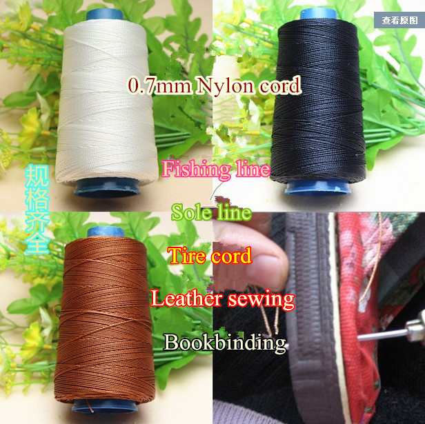 0.7mm x 300m nylon cord stretch strong waxed thread Leather craft sewing bookbinding fis ...