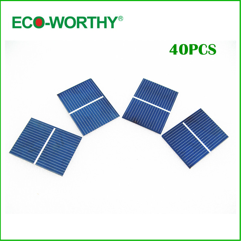 40pcs 52x38mm solar cell for DIY 10w solar panel poly solar cells