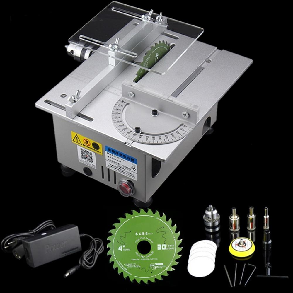 Aluminum Miniature Table Saw High Precision DC 24V 7000RPM Cutting Machine DIY Model Saws Precision Carpentry Chainsaw Cutter