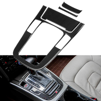 Car Interior Console Gear Shift Panel Cover Trim Car Styling Carbon Fiber Trim Fits For Audi A4L A5 Q5 2018