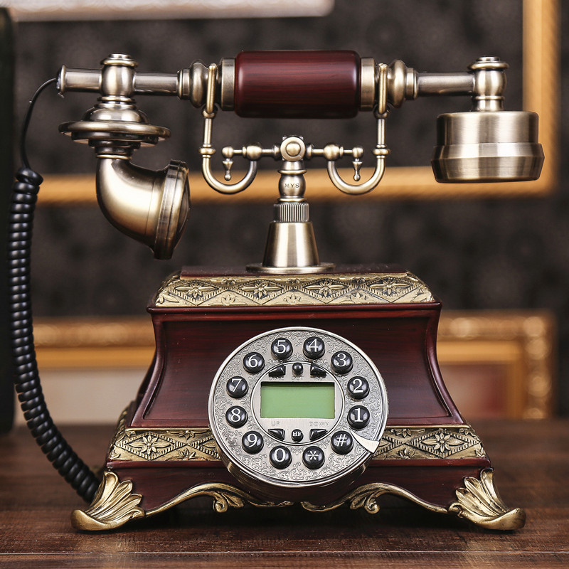 Ye are the top antique European Garden retro home office telephone landline phone caller ID Dial number Decoration home Rotate