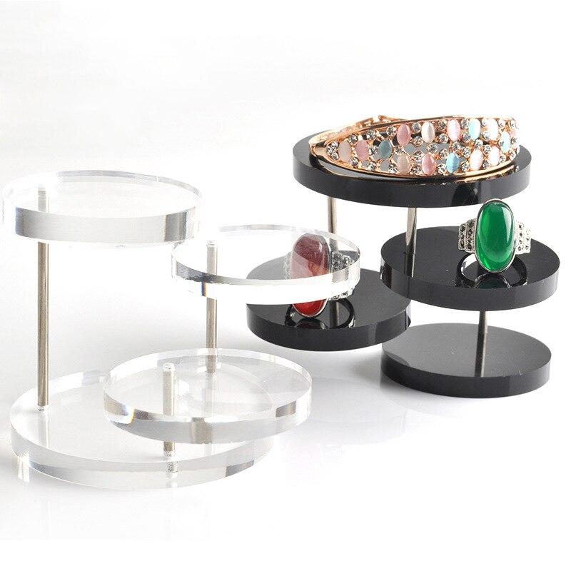 New Jewelry Organizer Jewelry Display Stand Clear 3 Tray Acrylic
