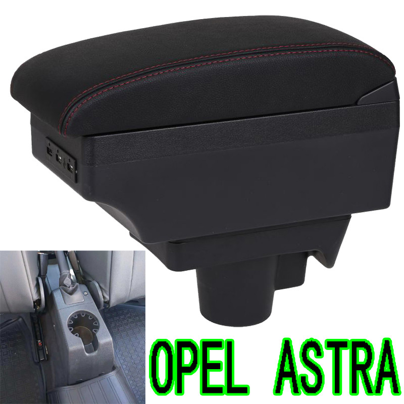 For Opel Astra Armrest Box Opel Astra H Universal Car Central Armrest Storage Box modification accessories