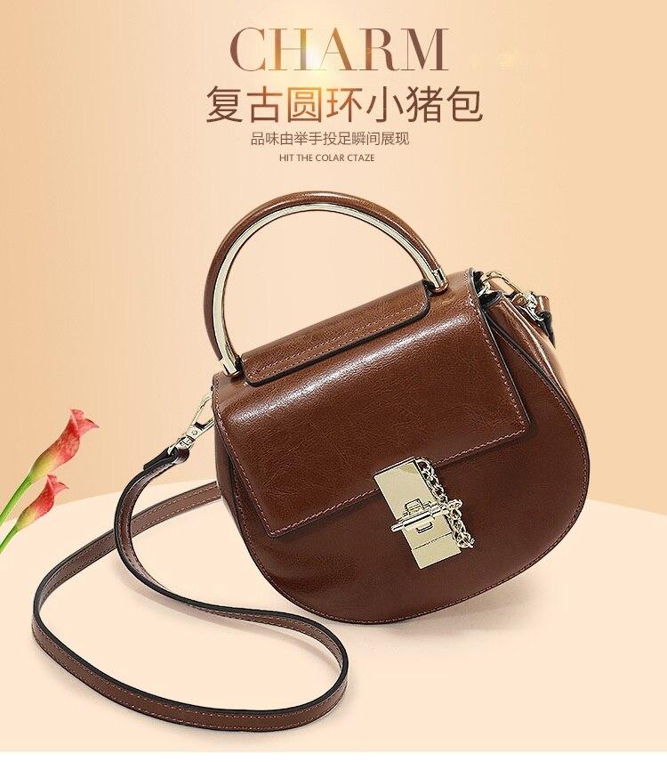 lkprbd Fashion hot saddle Handbag Shoulder Bag retro trend all-match bag 100% bag lovely pig leather diagonal bag стоимость