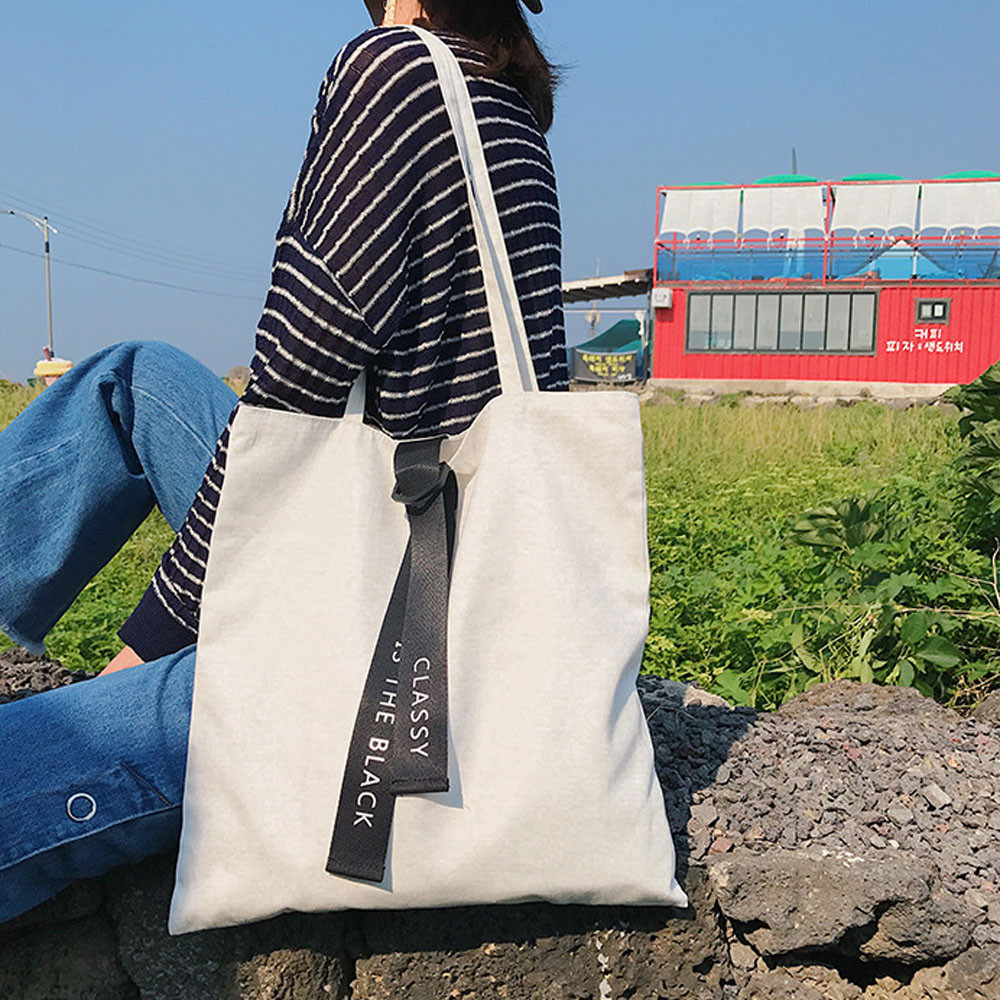 canvas shopping bag Shopping Casual style Handbag Canvas material Pouch Shoulder Bag Fashion Handbag bolsa стоимость