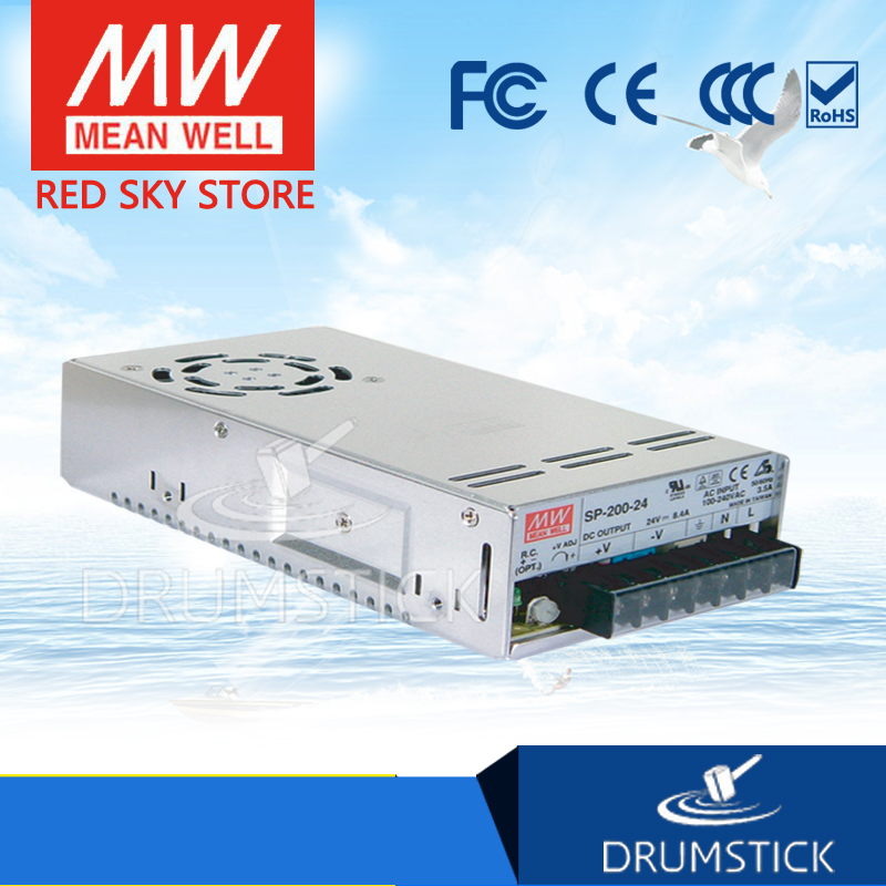 MEAN WELL SP-200-7.5 7.5V 26.7A meanwell SP-200 7.5V 200.2W Single Output with PFC Function Power Supply [powernex] mean well uhp 200a 4 2 168w single output with pfc function meanwell uhp 200