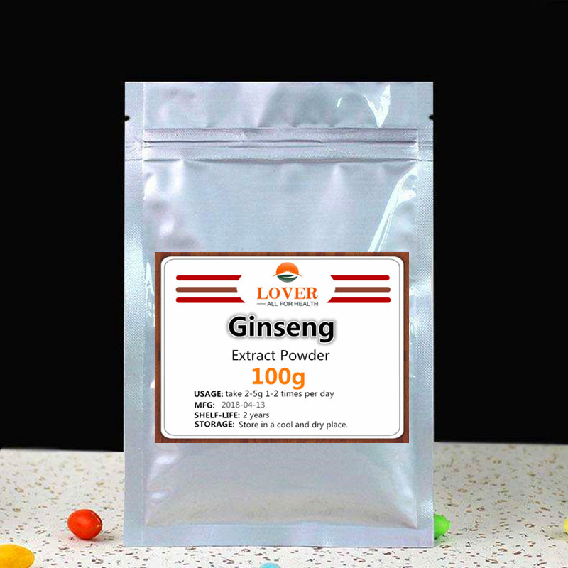 Pure & Original Korean Ginseng Extract Powder,Red Panax Ginseng with ginsenosides,High quality longevity Support,relief fatigue herb extract high quality selfheal spike extract powder 200g lot