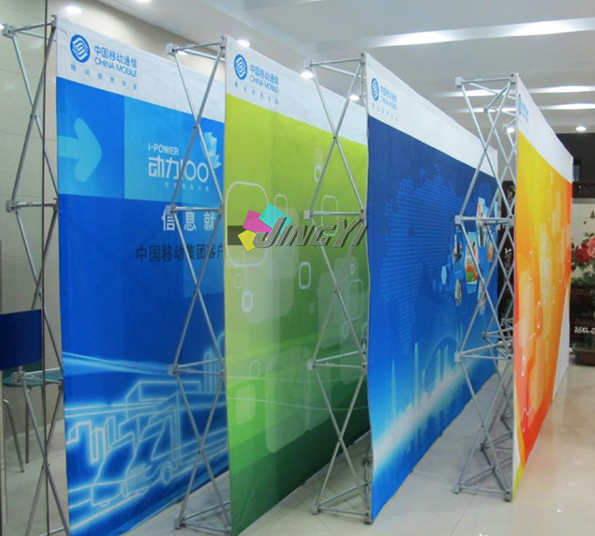 8FT Portable POPup Exhibition Show Backdrop Wall Banner Tradeshow Display