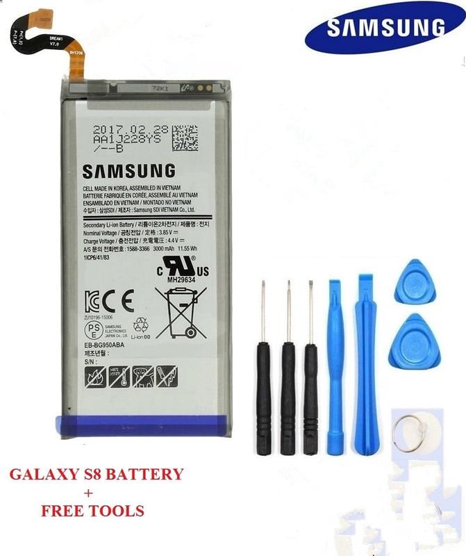 Samsung Replacement Battery Galaxy G950F 100%Original 3000mah S8 Free-Tools Internal