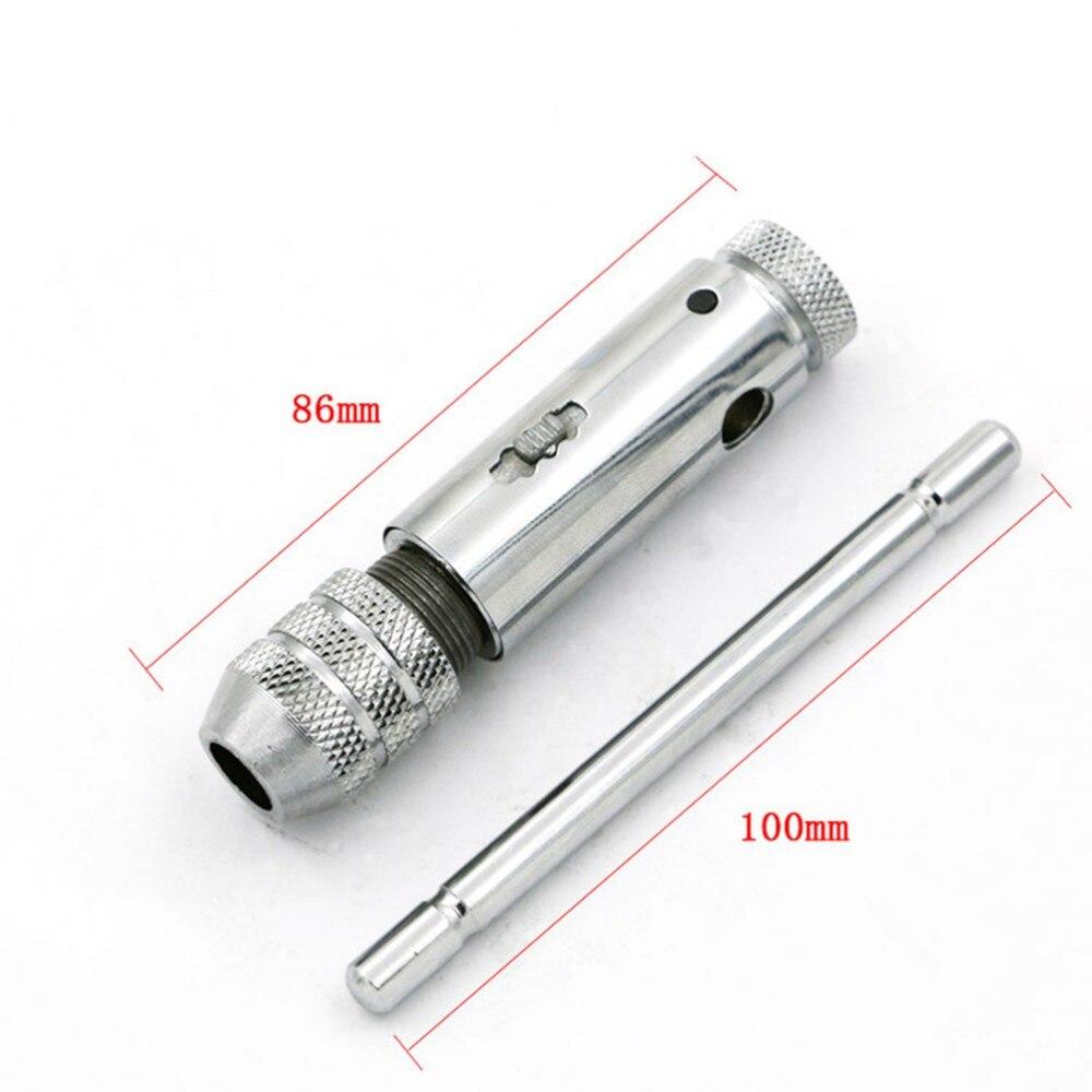 1 Набор, регулируемый M3-M8 Т-образной ручкой, трещотка, гаечный ключ, инструмент для машиниста, Реверсия с 1 шт. винтовым краном