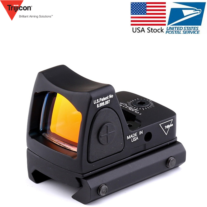 Trijicon Mini RMR point rouge viseur collimateur Glock/tir pistolet Reflex portée de visée adaptée 20mm tisserand Rail pour Airsoft/fusil de chasse