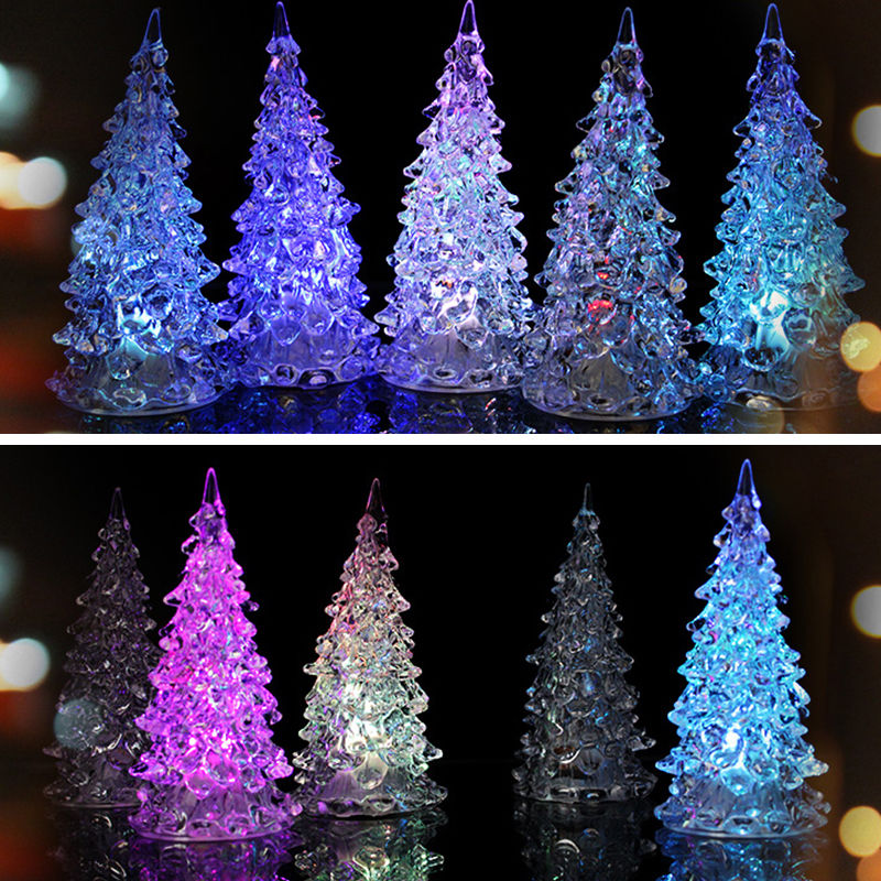 LED Battery Lamp 7 Colour Changing Night Light Child Gift Light Desk Table Top Christmas Tree Decoration Festive Party Supply