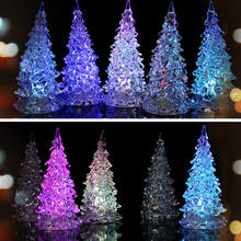 LED Battery lamp 7 Colour changing Night Light child Gift light Desk Table Top Christmas Tree Decoration Festive Party Supply(China)