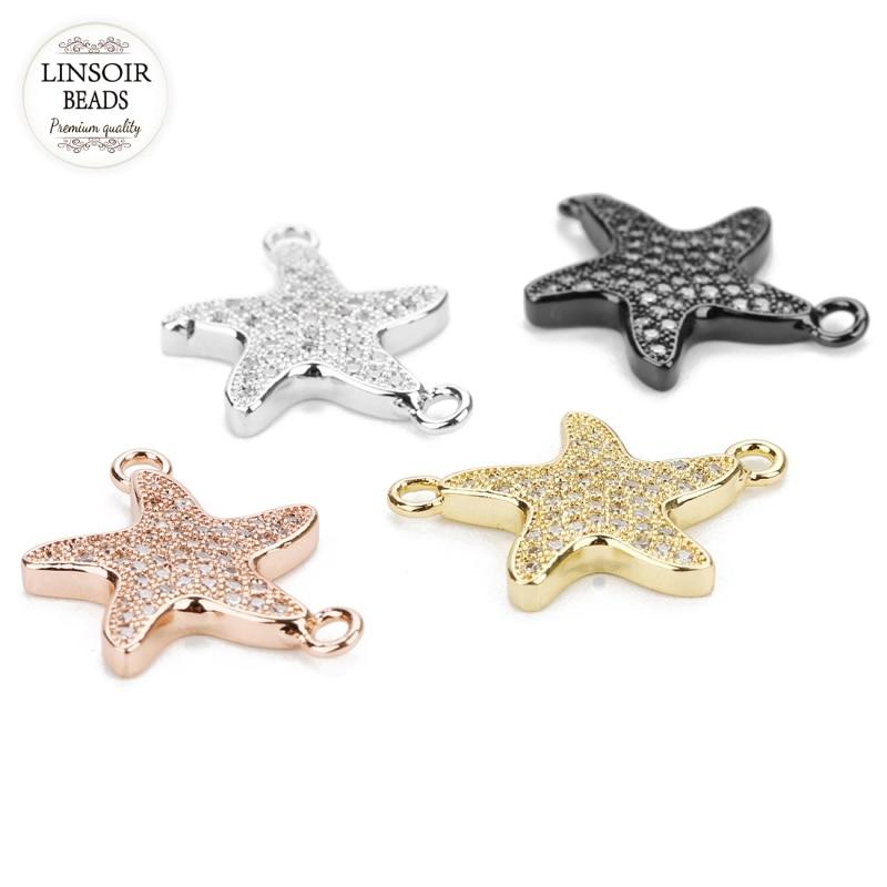 30 New Connectors Animal Starfish Tibetan Silver Tone Charms 11x16.5mm