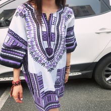 New fashion design african traditional print 100% cotton Dashiki T-shirt