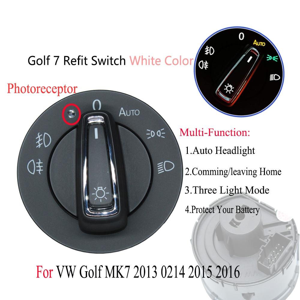 Refit AUTO Faro Interruttore Modulo Sensore di Luce Lucido del Bicromato di potassio Per VW Glof MK7 13-16 Skoda Octavia 2015 2016 Superb 2016 2017