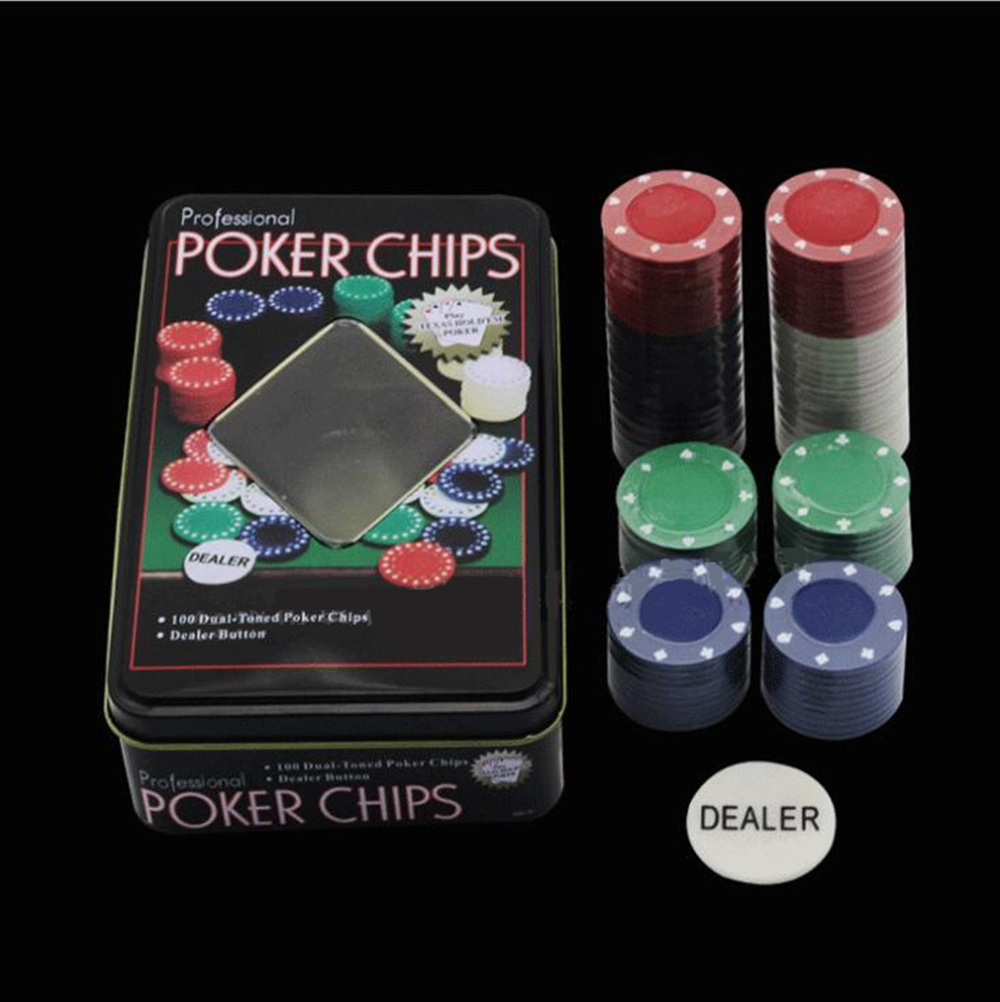 Creative 200 Baccarat Chips Bargaining Poker Chips Set-blackjack Table Cloth- 2 Blinds Dealer 2 Poker Cards With Gifts Pretty And Colorful