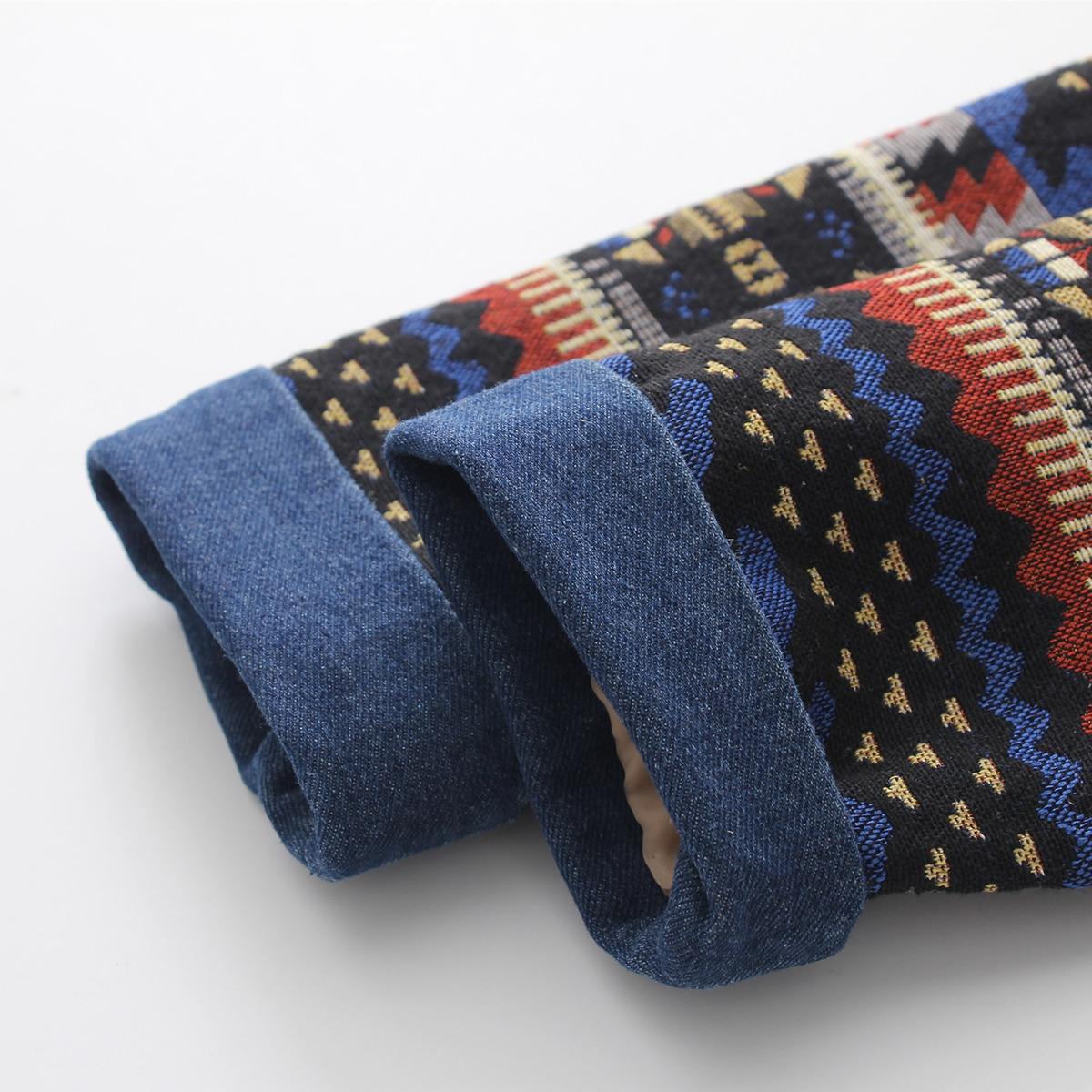 Bleu Femmes 2018 Veste Long Épais Moyen Patchwork Denim Chaud Jeans Outwear Occasionnel Manteau Copie Vintage Cachemire Rembourré D'hiver Lâche SpLzMVjqGU