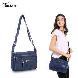TEGAOTE Fashion Multi Zipper Pocket Women Small Mini Shoulder Messenger Crossbody Bag Ladies Satchel Handbag Cellphone Pouch