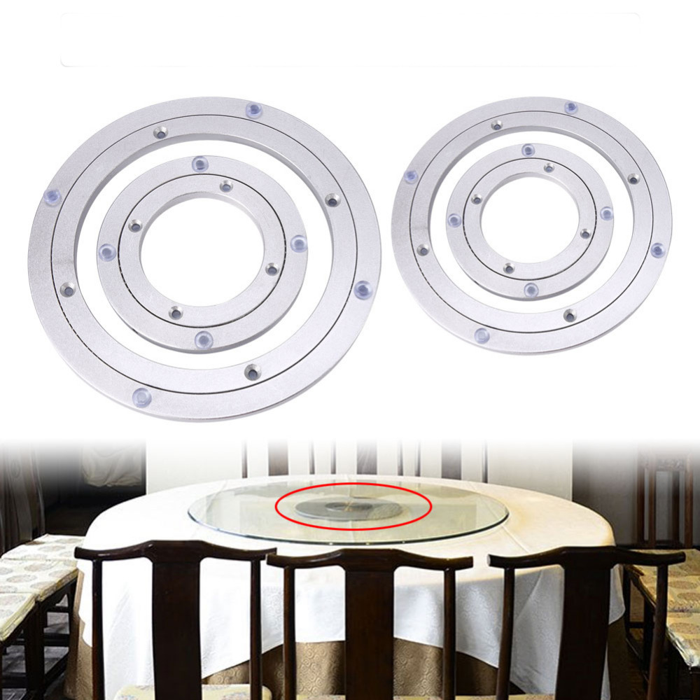 Turntable Bearing Square Rotating Swivel Plate Metal Turntable Furniture Wheel Parts Rotary Table Bearing Kitchen Accessories