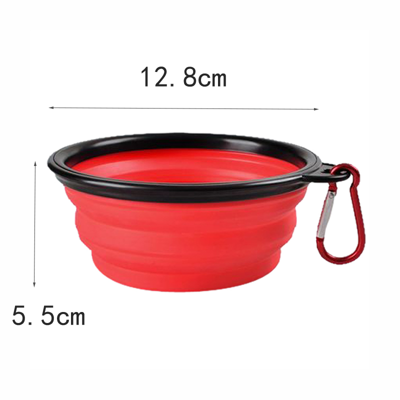1pc Folding Silicone Dog Bowl Outfit Portable Travel Bowl For Dog Feeder Utensils Small Mudium Dog Bowls Pet Tools #6