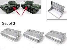 Mato Metal storage Box(set of 3pcs) for 1/16 1:16 RC Russian KV-1 Tank,metal parts,KV-1 tank parts