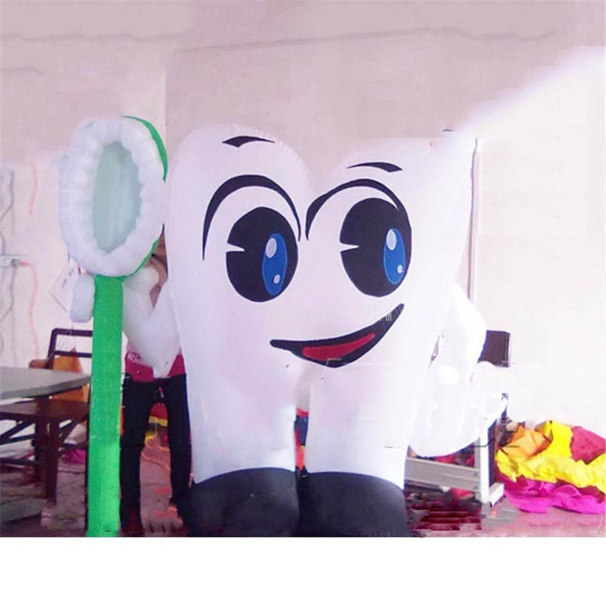 Tooth Model Inflatable Big Stand Baloons Air Balls For Tooth Brush Plate Dental Advertising Starting Business Celebration Decor
