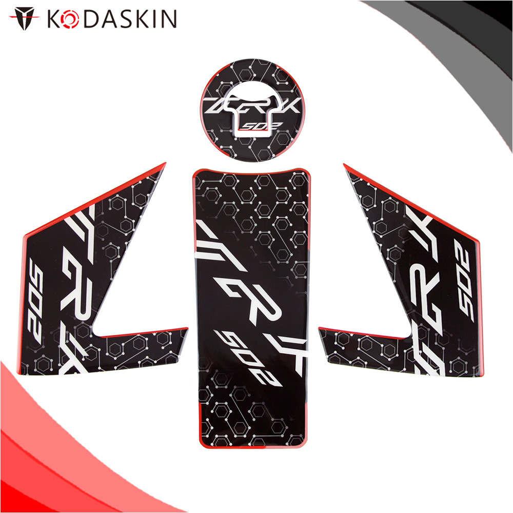 KODASKIN Motorcycle For Benelli TRK502 3D Epoxy Resin Applique Tank Pad Sticker Decal Emblem GRIPPER STOMP GRIPS EASY Black