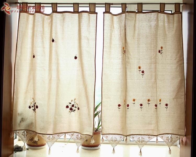 Finished Product Strawberry Grogram Small Flower The Finished Curtain Rod  Curtain Style(China (Mainland