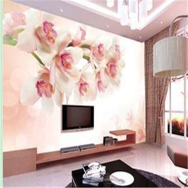 Beibehang 3d Wall Murals Wallpaper Flower Seamless Backdrop Mural Painting Large Living Room Sofa Decorative