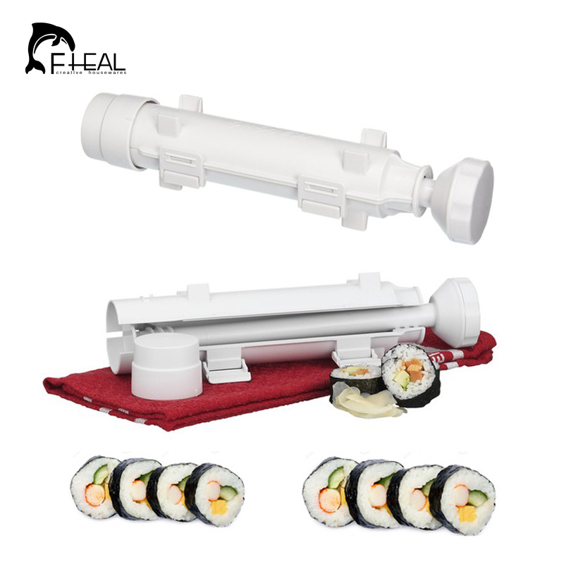 FHEAL Sushi Roller Mould Kit Sushi Rolls Made Easy DIY Sushi Bazooka Sushi Maker Mold Cooking