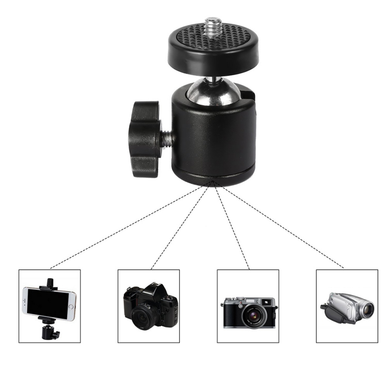 Mini Ball Head For HTC Vive Lighthouses Base Station Camera Camcorder HTC 360 Degree Tripod Adapter Ball Head Camera