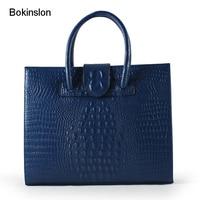 Bokinslon Leather Woman Handbags Fashion Popular Women Handbags Split Leather Large Capacity Ladies Brand Luxury Bags
