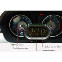 Car Clock Multi Function Car Temperature Clock Voltmeter Car Electronic Clock Car Accessories Thermometer Luminous Clock