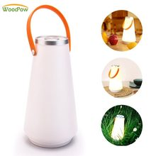 WoodPow Portable Wireless Lantern Dimmable Rechargeable Table Lamp Touch Sensor Control NightLight Outdoor Camping USB Charger(China)