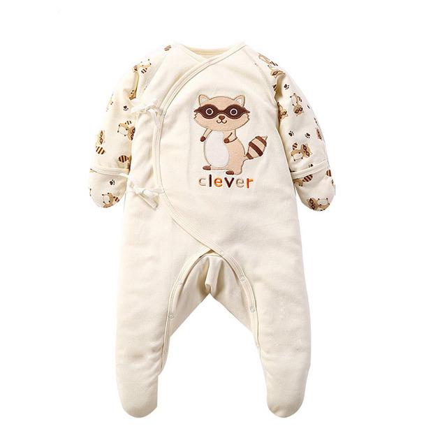 Bebê recém-nascido Da Menina do Menino Macacão de Algodão Dos Desenhos Animados Manga Comprida Pijamas Roupa Infantil Criança Meninas Onesie Traje Macacão de Proteção