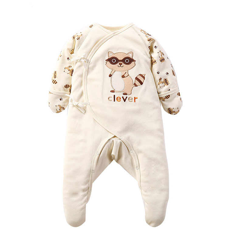 Newborn Baby Girl Boy Cotton Long Sleeve Cartoon Rompers Pajamas Clothes Infant Toddler Girls Protection Onesie Jumpsuit Costume calabob autumn winter baby rompers long sleeve cotton cartoon animal jumpsuit infant newborn clothing baby boy girl clothes